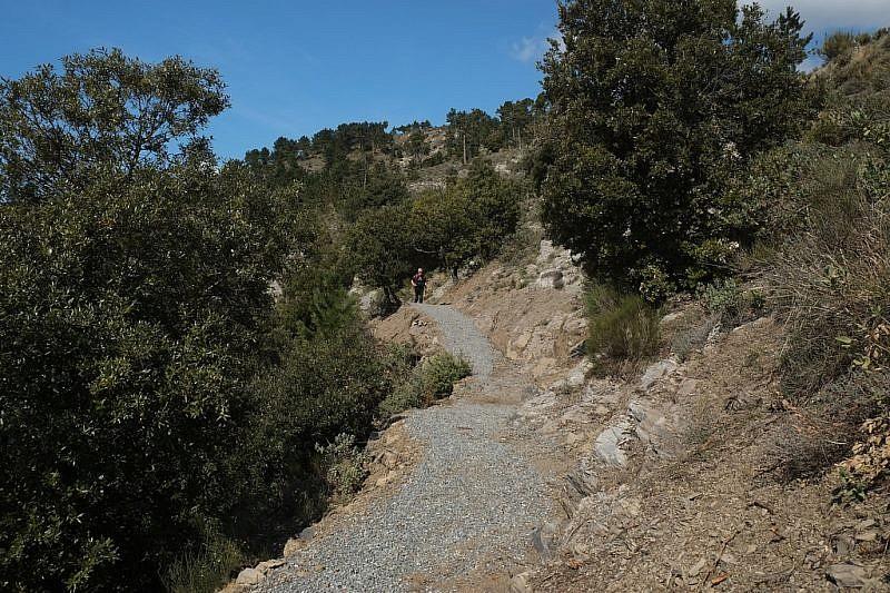 L'ottimo sentiero restaurato