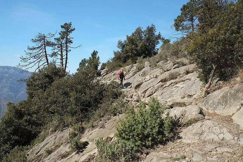 Nella zona rocciosa, nei pressi della Croce di Sapelea