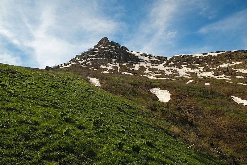 Dalla grangia Salin veduta sulla Rocca Cucuja