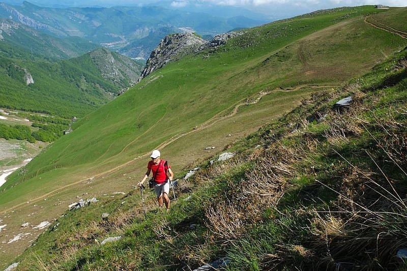 Inizio della salita al Monte Balur