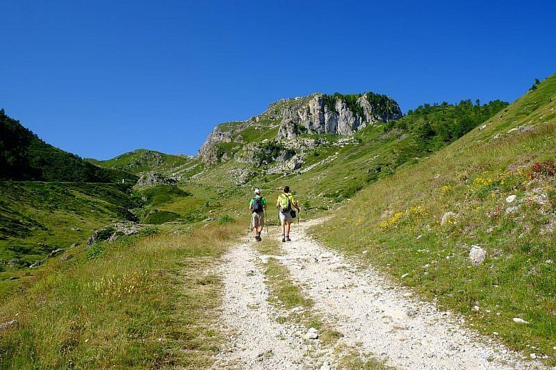 Verso il Gias dell'Alpe Brignòla