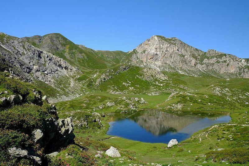 In salita dal lago della Brignòla