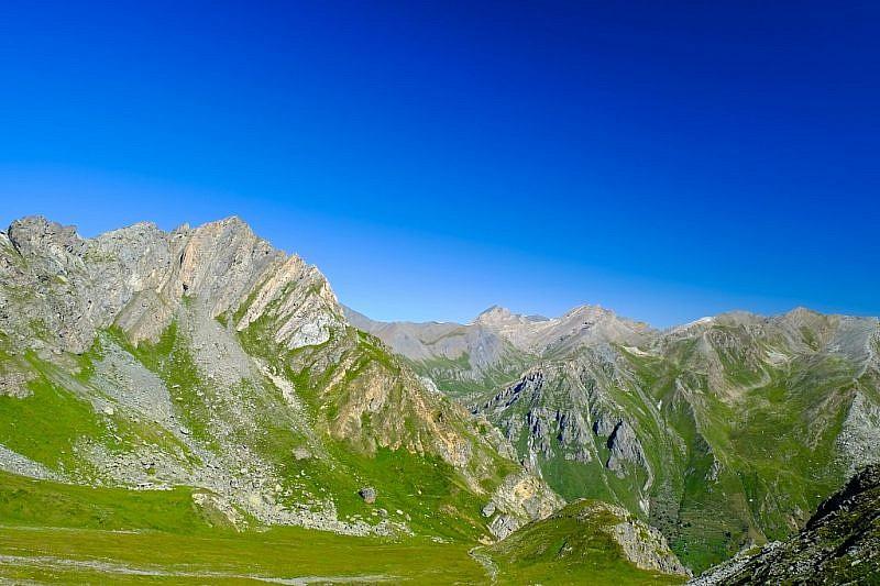 Sguardo verso i Monti Gabel e Pence (a sinistra della foto)