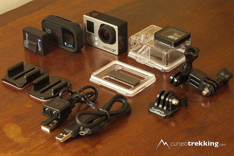 I principali elementi presenti nella confezione della GoPro Hero 3+ Black