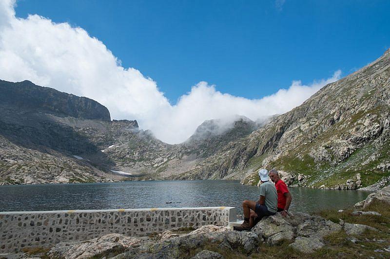 Pausa pranzo con vista sul lac de l'Agnel
