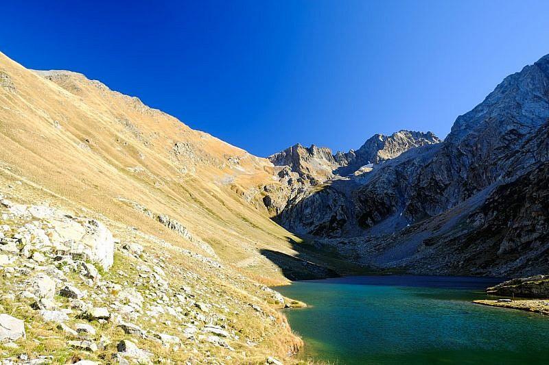Arrivo al lago del Vej del Bouc
