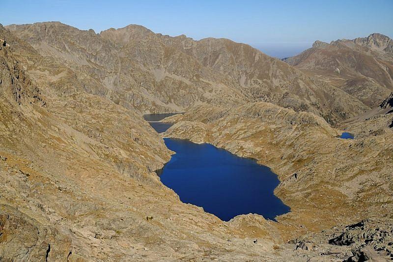 Veduta dei tre laghi durante la salita