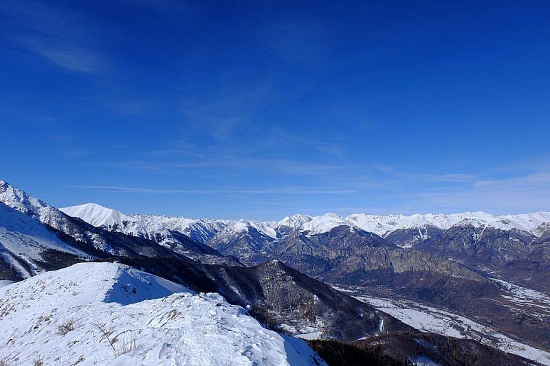 Sguardo verso le Alpi Cozie