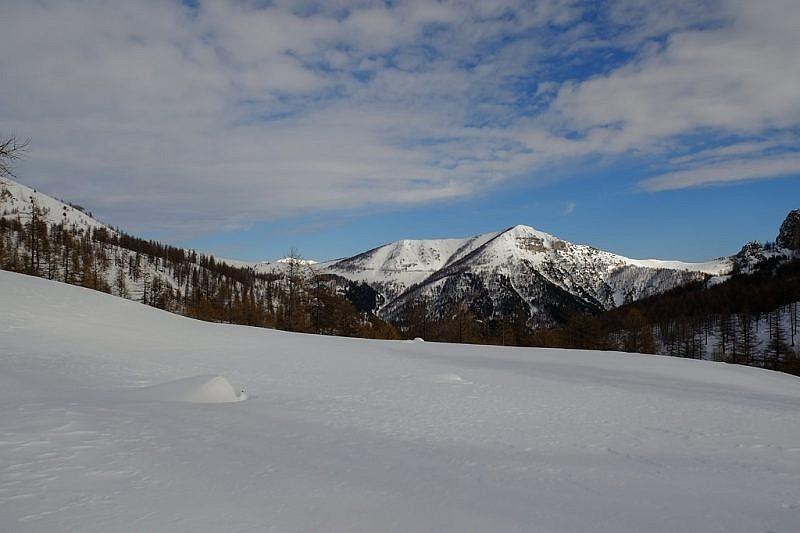 Il Mont Chajol in lontananza