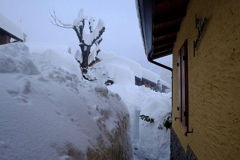 Alcune immagini dell'ultima nevicataa Rosbella