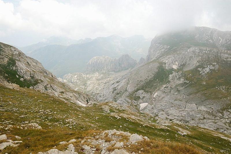 Dalla cima, il vallone delle Masche