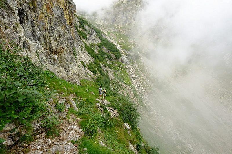 Scendendo nel vallone della Miniera