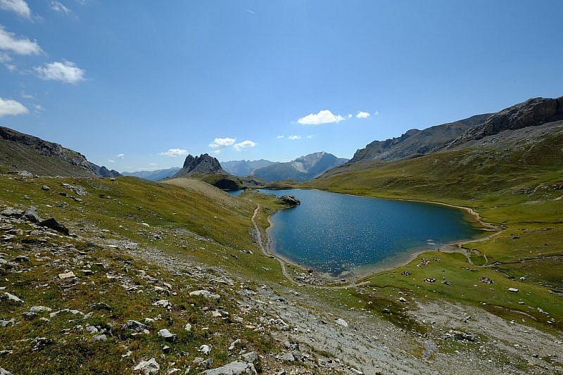 Tipica foto dello splendido lago superiore di Roburent