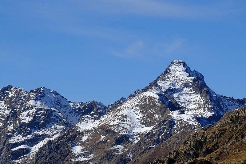 Il becco Alto dell'Ischiatorvisto dal monte Vaccia