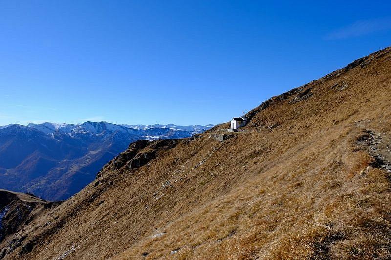 Ultimi metri prima della chiesetta della Madonna Alpina