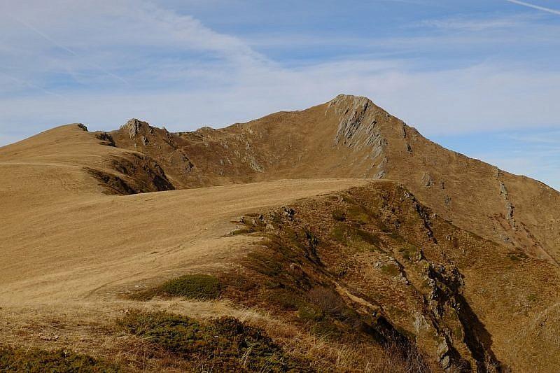 Dal passo della Magnana vedutaverso il monte Grum