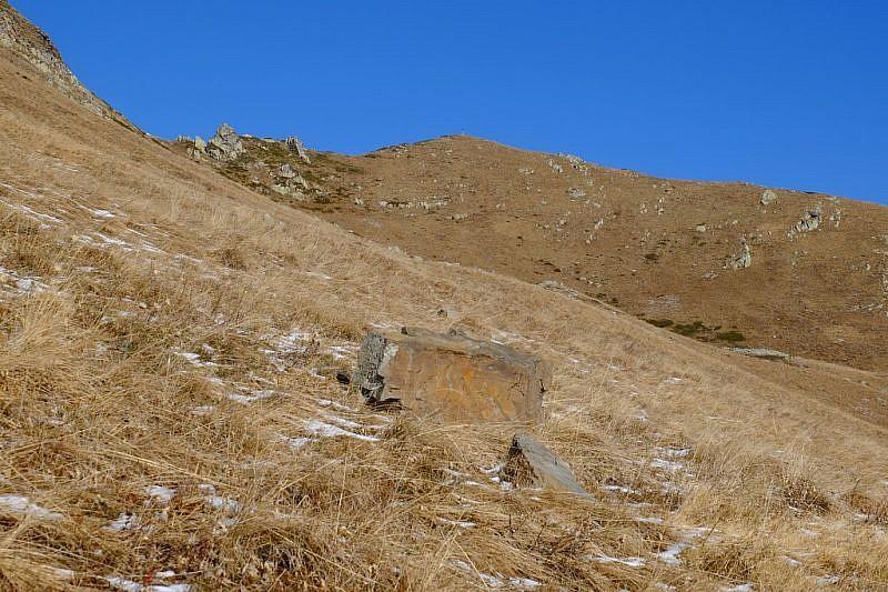 Al fondo la cima delle Giosolette
