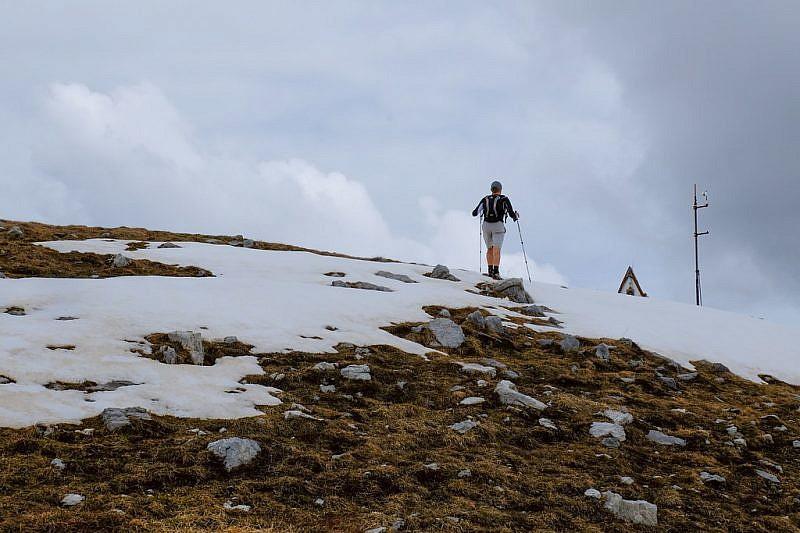 Arrivo sulla cima Seirasso
