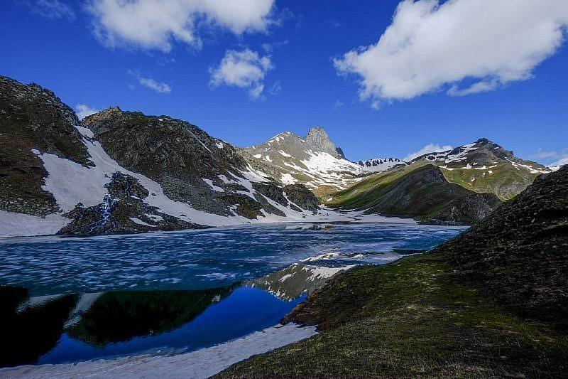 Il lago Bleu conRoc della Niera