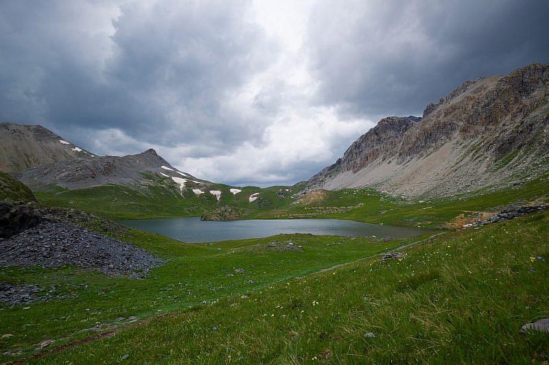 Al lago Superiore di Roburent il tempo si sta imbruttendo
