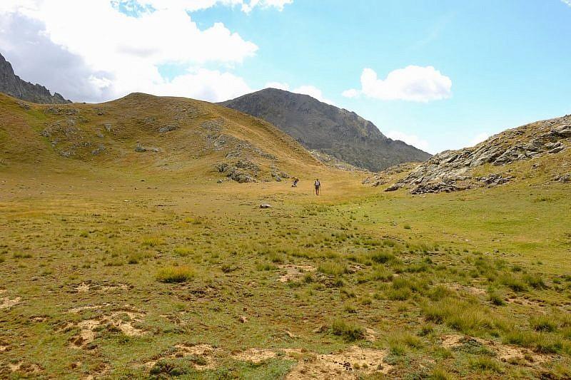 Tratto pianeggiante dopo la Crête du monte Aiga