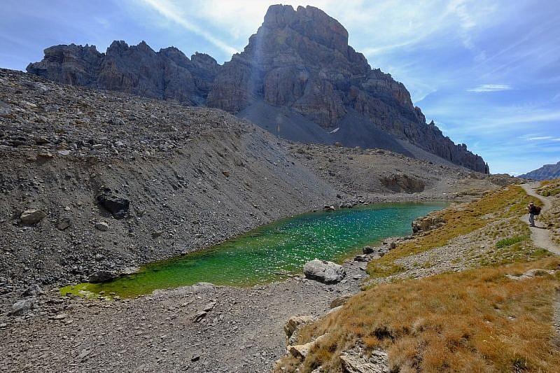 Lac Long visto da un'altra angolazione col Brec alle spalle