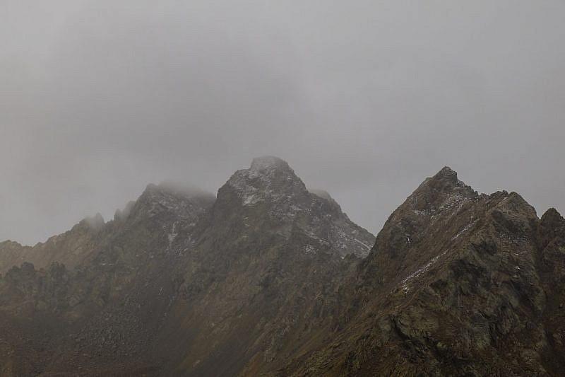 Zoom sul Corborant leggermente imbiancato e sulla Punta Gioffredo (a destra)