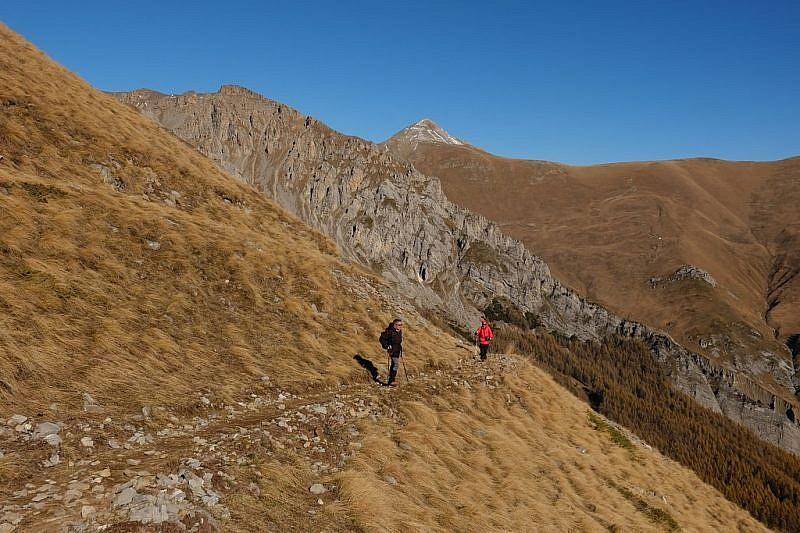 Ultimi traversi che conducono al monte Autes