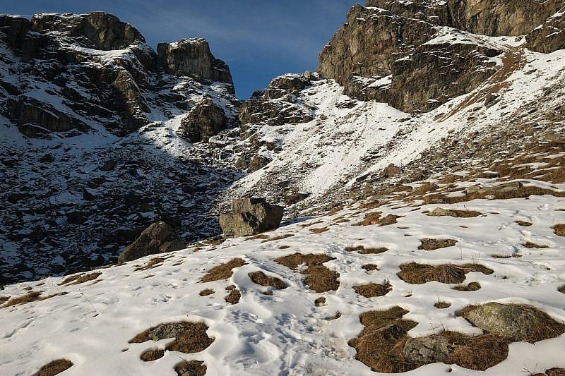Lo sbarramento roccioso del Gruppo di Alpetto
