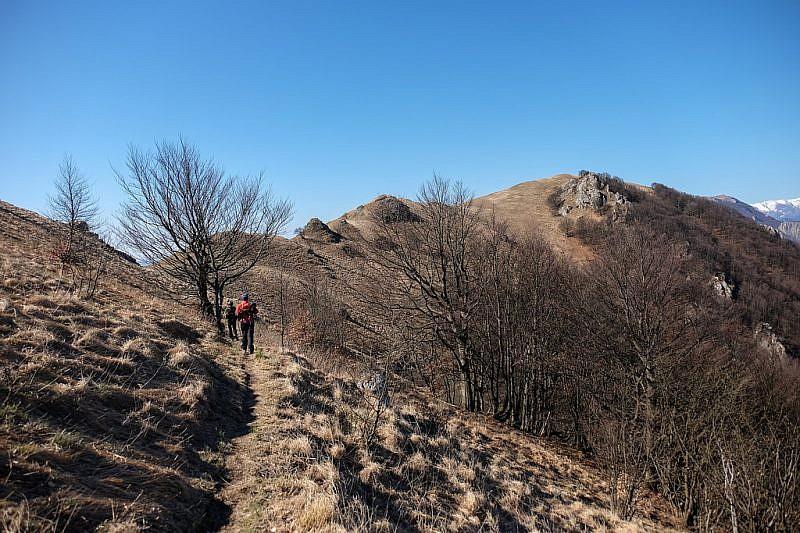 Salendo verso la dorsale del monte Galero