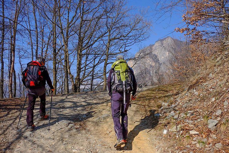 Prima visuale sul monte Rubbio
