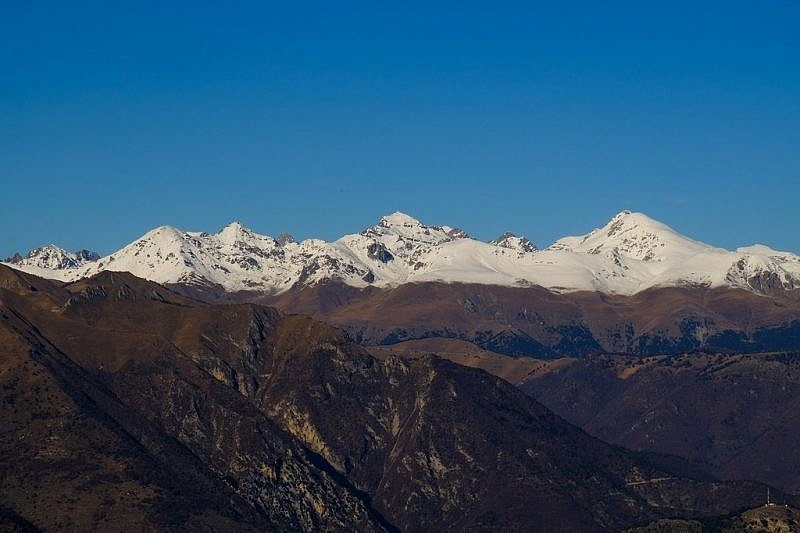 Cime du Diable (2685 m), Grand Capelet (2935 m) e Monte Bego (2872 m)