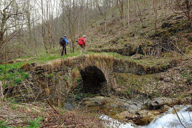 Antico ponte sul rio Albert