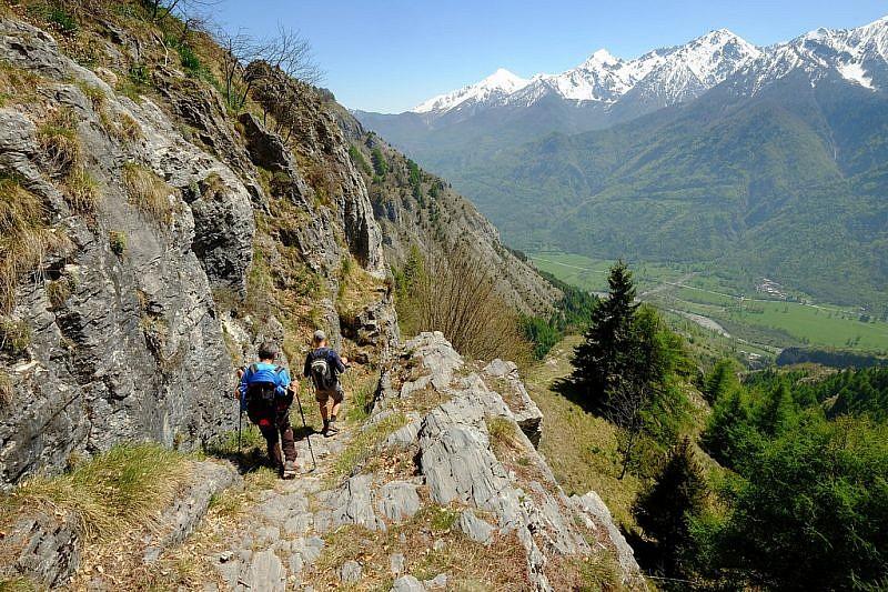 Immagini del percorso di discesa a valle