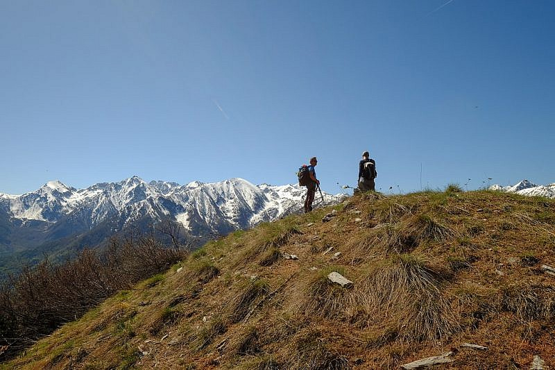 Sulla cima del monte Aighiera