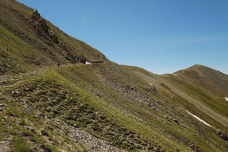 Colle del Vallonetto e cima del Gias (a destra)