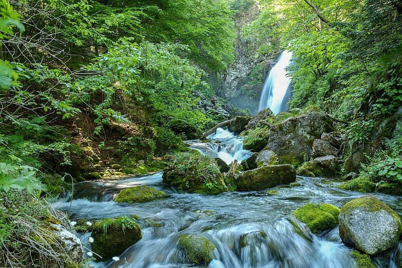 La bella cascata salendo verso la Gorgia Furnaza