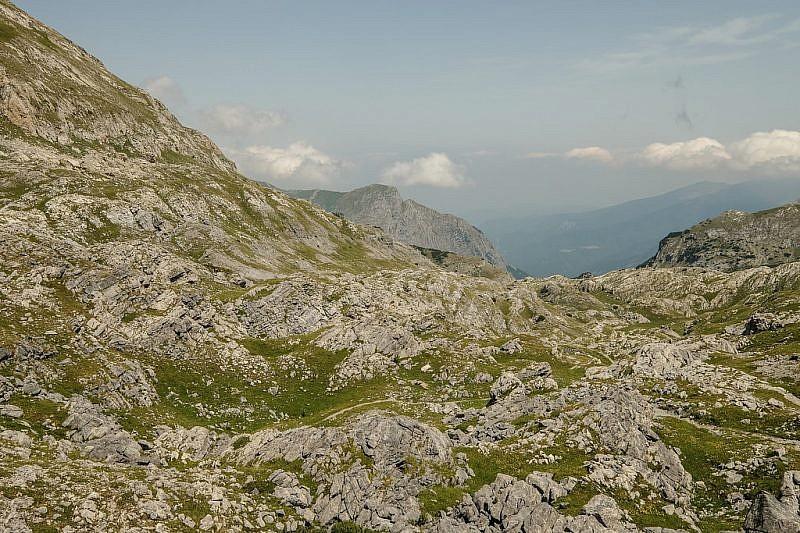 Il caotico vallone delle Càrsene dalla capanna Morgantini