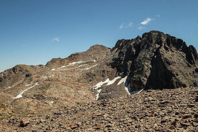 Il Monte Matto dal colle di Valmiana