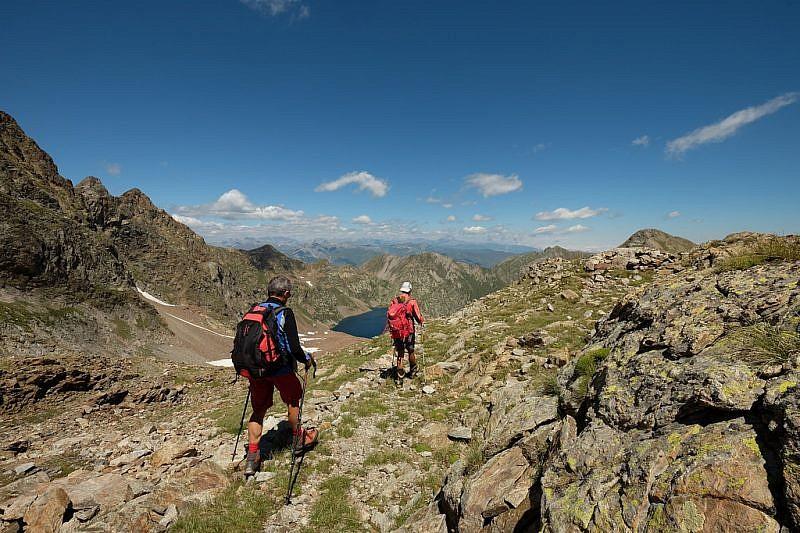 Immagini di discesa verso il bivio per il Monte Matto