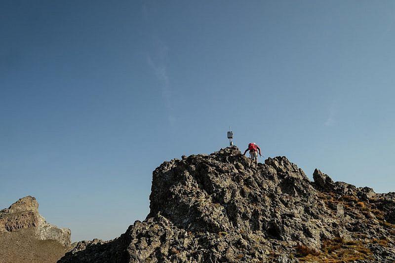 Arrivo sulla cima della Rocca del Nigro