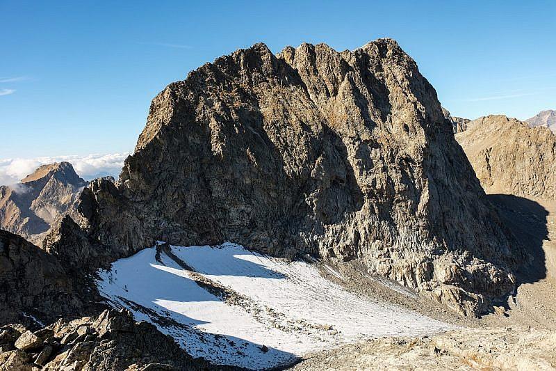 Monte Clapier e ciò che rimane del ghiacciaio