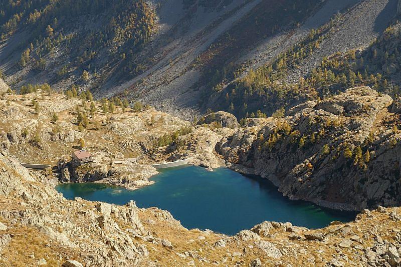 Lac Vert dalla roccia dove pranziamo…