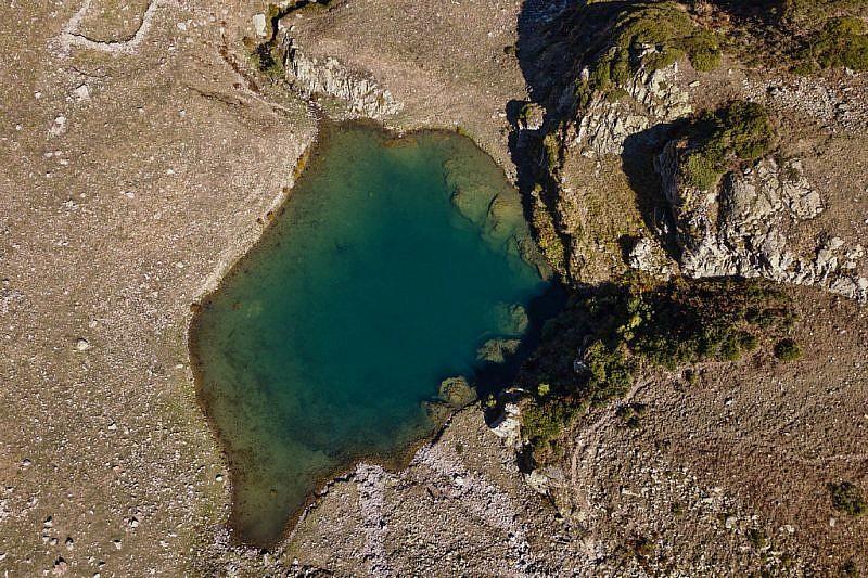 Lago Lausetto visto dall'alto