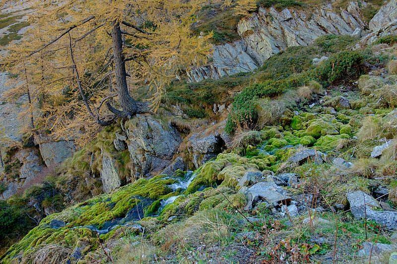 Salendo i fianchi della cascata