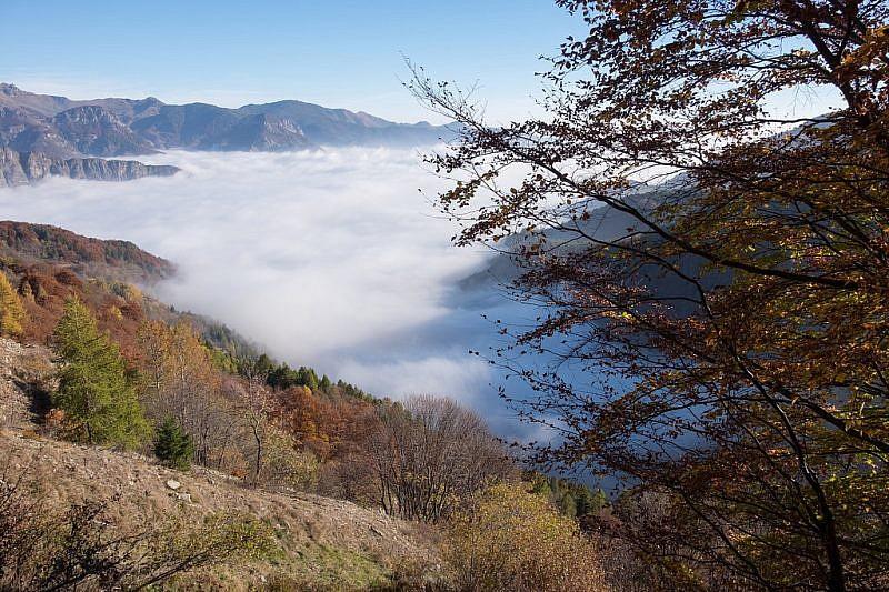 Le nuvole ricoprono la valle Stura