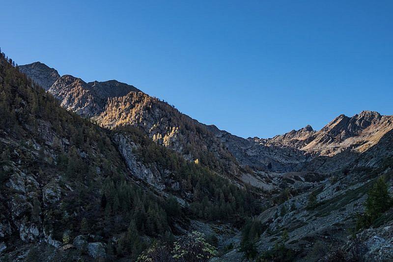 Il panorama che si presenta a fondo valle
