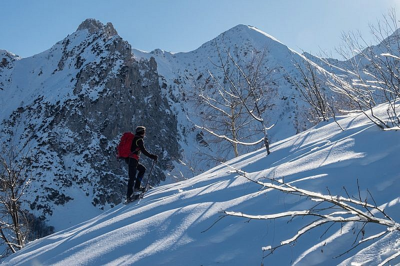 …con vista sul Bec Matlas (2148 m)