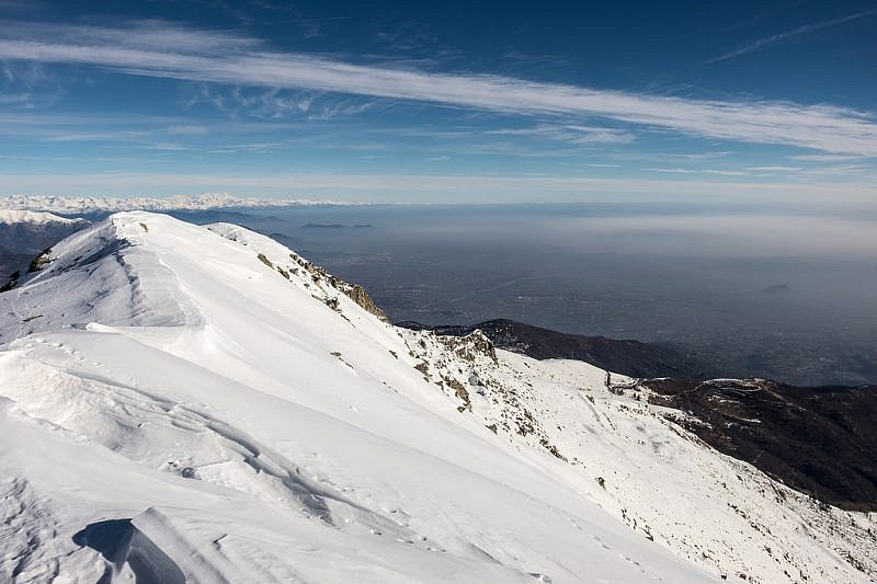 L'ultimo tratto di cresta che conduce alla punta Ostanetta
