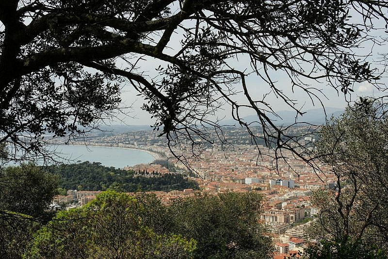 Dal forte, veduta su Nizza e la baia degli Angeli